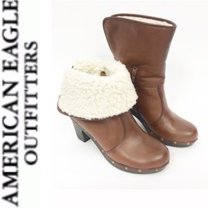 American Eagle Outfitters Brown Boots Faux Fur 8